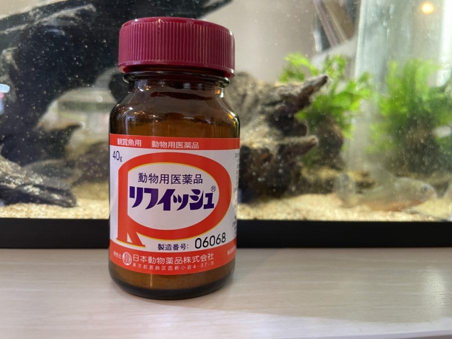 観賞魚用の動物用医薬品リフィッシュ